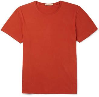 Nudie Jeans Anders Slub Organic Cotton-Jersey T-Shirt - Orange