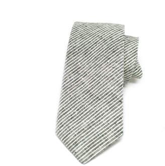 Kathrine Zeren Skinny Grey & White Stripe Tie