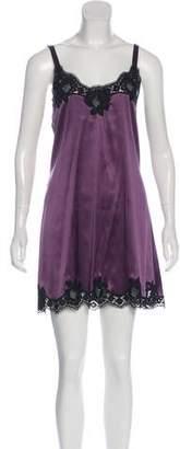 Dolce & Gabbana Silk Lace Sleeveless Nightgown w/ Tags