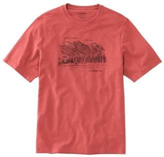 L.L. Bean L.L.Bean Men's LakewashedA Organic Cotton Graphic Tee, Short-Sleeve