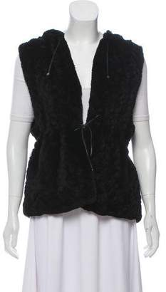 J. Mendel Hooded Fur Vest