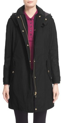 Women's Burberry Brit 'Hartlington' Hooded Cotton Blend Parka $995 thestylecure.com