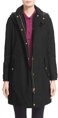 Women's Burberry Hartlington Hooded Cotton Blend Parka $795 thestylecure.com