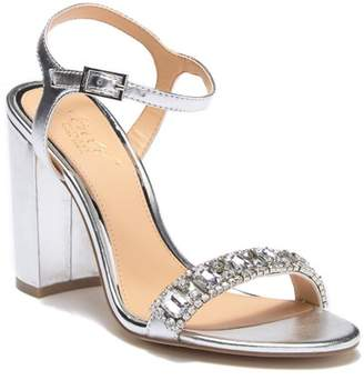 Badgley Mischka Hendricks Embellished Block Heel Sandal