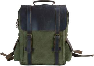 EAZO - Side Pockets Canvas Backpack in Green