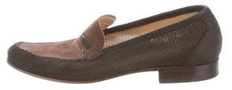 Moreschi Suede Round-Toe Loafers