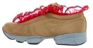 Ganni Low-Top Ruffled Sneakers