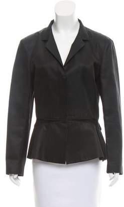 Narciso Rodriguez Mock Neck Long Sleeve Jacket