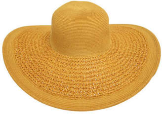 Bondi Beach Bag Co NEW Crochet Weave Brim Floppy Hat Natural