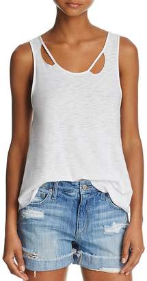 Michelle by Comune Distressed-Neck Tank $28 thestylecure.com