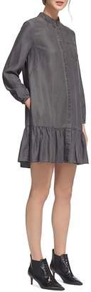 Whistles Drop Hem Shirt Dress