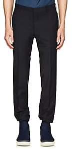 Prada Men's Plain-Weave Wool-Mohair Slim Trousers-Navy