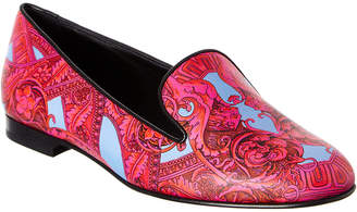 Versace Barocco Is Tante Leather Print Loafer