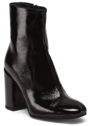 Made In Italy Patent Leather Booties