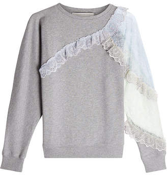 Christopher Kane Cotton Sweatshirt with Lace