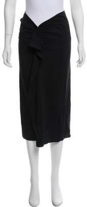 Isabel Marant Linen-Blend Midi Skirt
