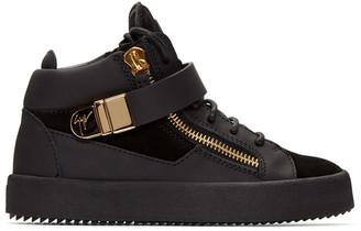 Giuseppe Zanotti Black London Mid-Top Sneakers $825 thestylecure.com