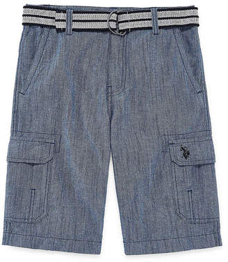 U.S. Polo Assn. USPA Chambray Cargo Shorts - Big Kid Boys