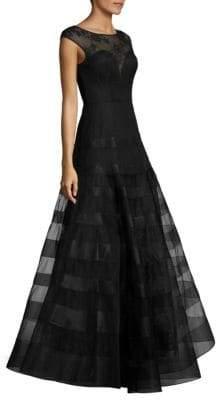 Basix Black Label Cap-Sleeve Gown