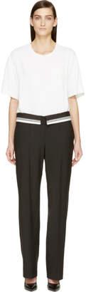 Maison Margiela Black and White Trompe LOeil Jumpsuit