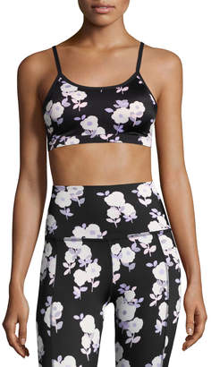 Beyond Yoga x kate spade new york luxe floral cinched bow bra