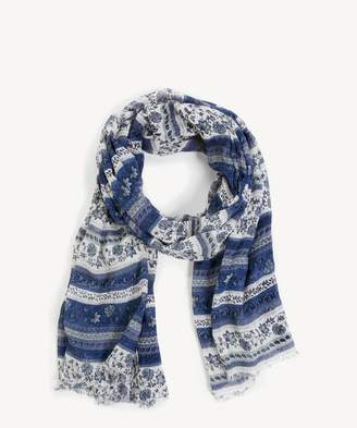Sole Society Floral & Stripe Scarf