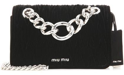 Miu MiuMiu Miu Matelassé velvet shoulder bag