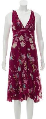 Alberta Ferretti Printed Midi Dress