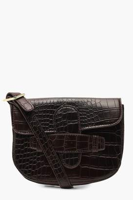 boohoo Croc Tab Detail Belt Bag