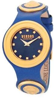 Versace Carnaby Street Leather Strap Watch