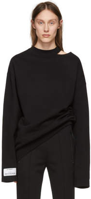 Vetements Black Open Shoulder Sweatshirt