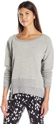 Wilt Women's One Shoulder Easy Shifted Sweatshirt