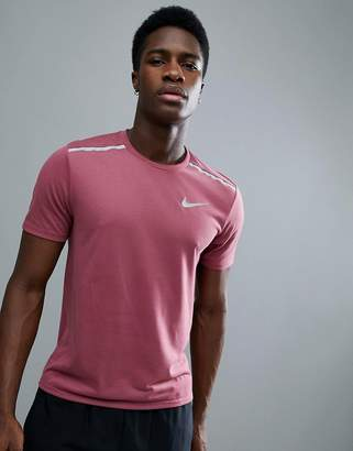 Nike Running Breathe Tailwind T-Shirt In Pink 892813-623