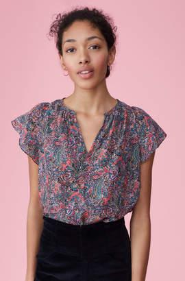 Rebecca Taylor Hudson Paisley Silk Top