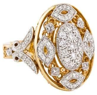 Co Gabriel & 14K Diamond Filigree Cocktail Ring