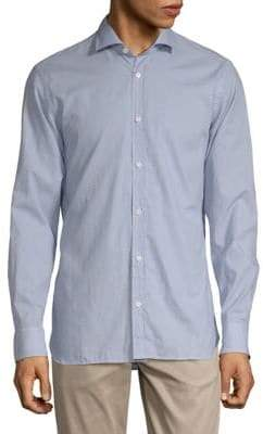 Ermenegildo Zegna Geo Print Button-Down Shirt