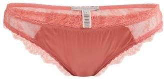 Stella McCartney Gigi Giggling Silk Blend And Lace Briefs - Womens - Pink