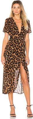 Bardot Leopard Wrap Dress in Brown $98 thestylecure.com