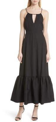 Tracy Reese Tiered Halter Keyhole Dress