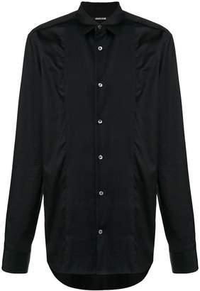 Roberto Cavalli pleated front shirt