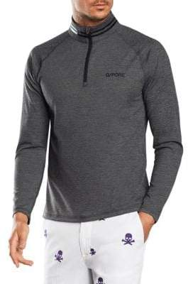 G/FORE G/FORE Men's Mid-Layer Quarter Zip Pullover - Heather Grey - Size Large