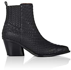 Sartore Women's Python Ankle Boots - Black