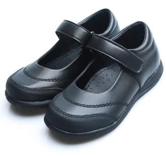 Happystep Toddler Little Girl Mary Jane School Uniform Dress Black Shoes, 1 Pair