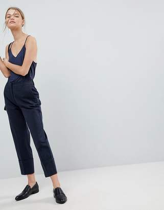 Selected Oversized Turn Up Cuff Pants