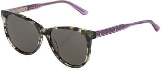 Bottega Veneta Two-Tone Round Havana Plastic Sunglasses