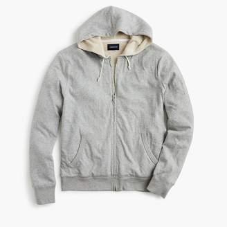 J.Crew Slub jersey hoodie in thermal-lined cotton