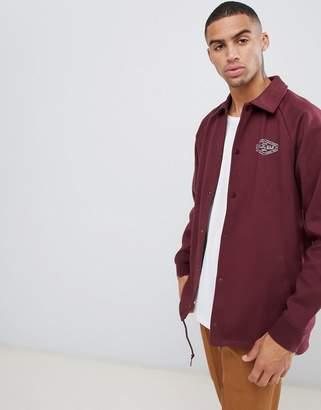 Vans Torrey Fleece coach jacket In Burgundy