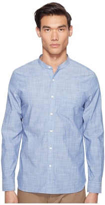 Jack Spade - Chambray Stripe Band Collar Shirt Men's Clothing $128 thestylecure.com