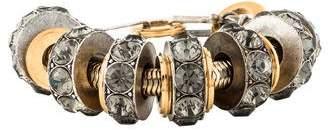Lanvin Oversize Crystal Rondelle Bracelet