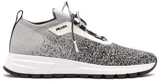 Prada Prax 01 Knit Trainers - Womens - Black Silver
